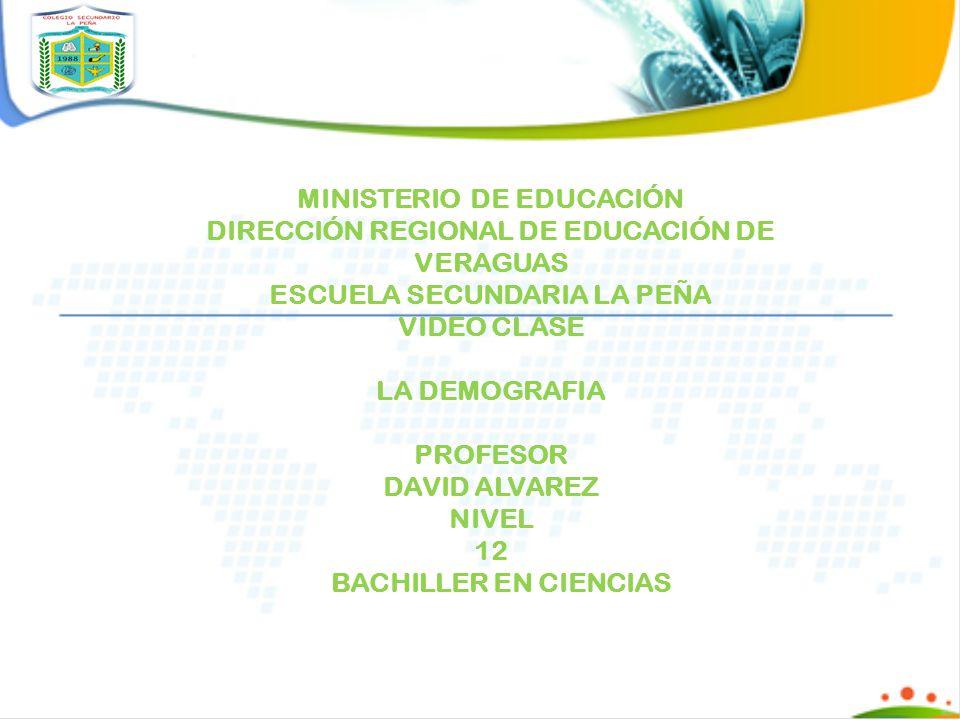 MINISTERIO DE EDUCACIÓN DIRECCIÓN REGIONAL DE EDUCACIÓN DE VERAGUAS
