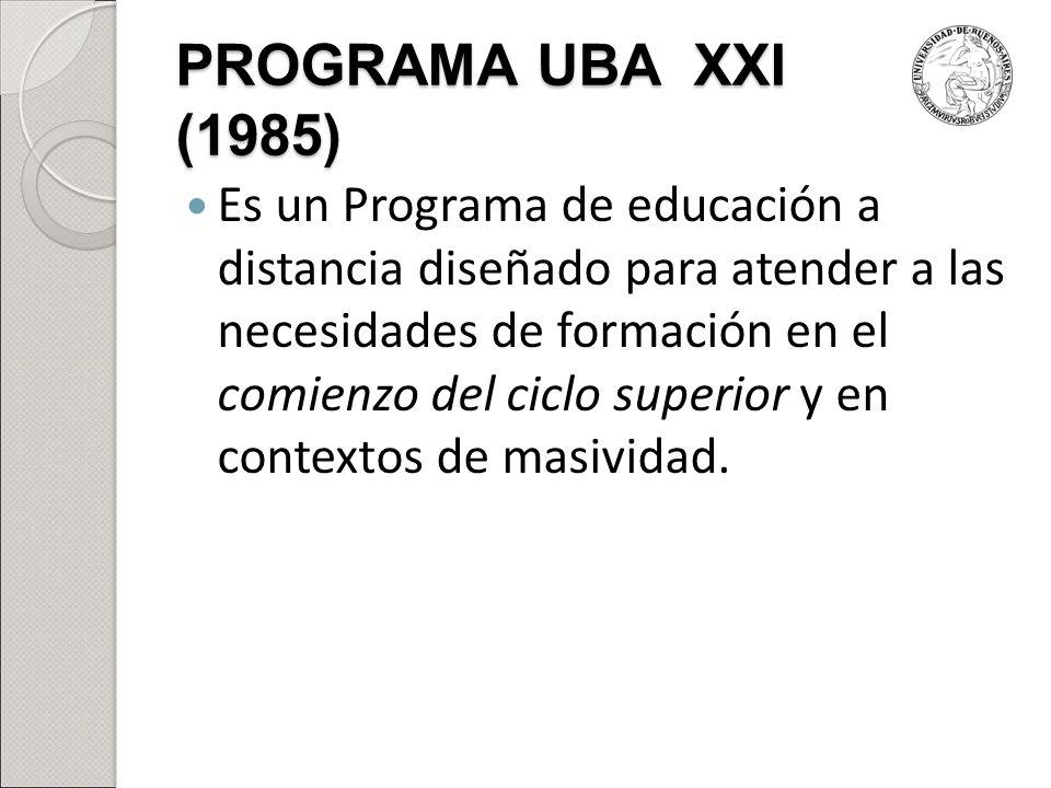 PROGRAMA UBA XXI (1985)