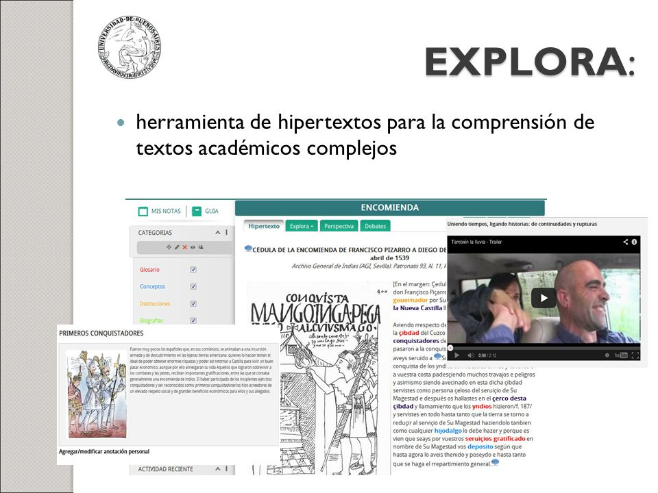 EXPLORA: herramienta de hipertextos para la comprensión de textos académicos complejos