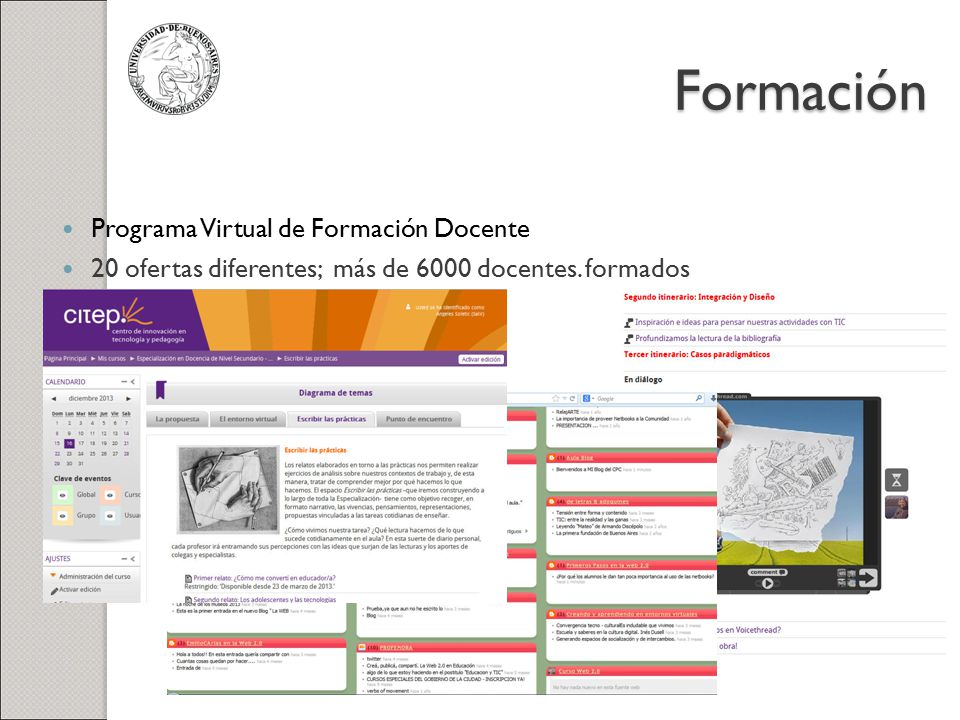Formación Programa Virtual de Formación Docente