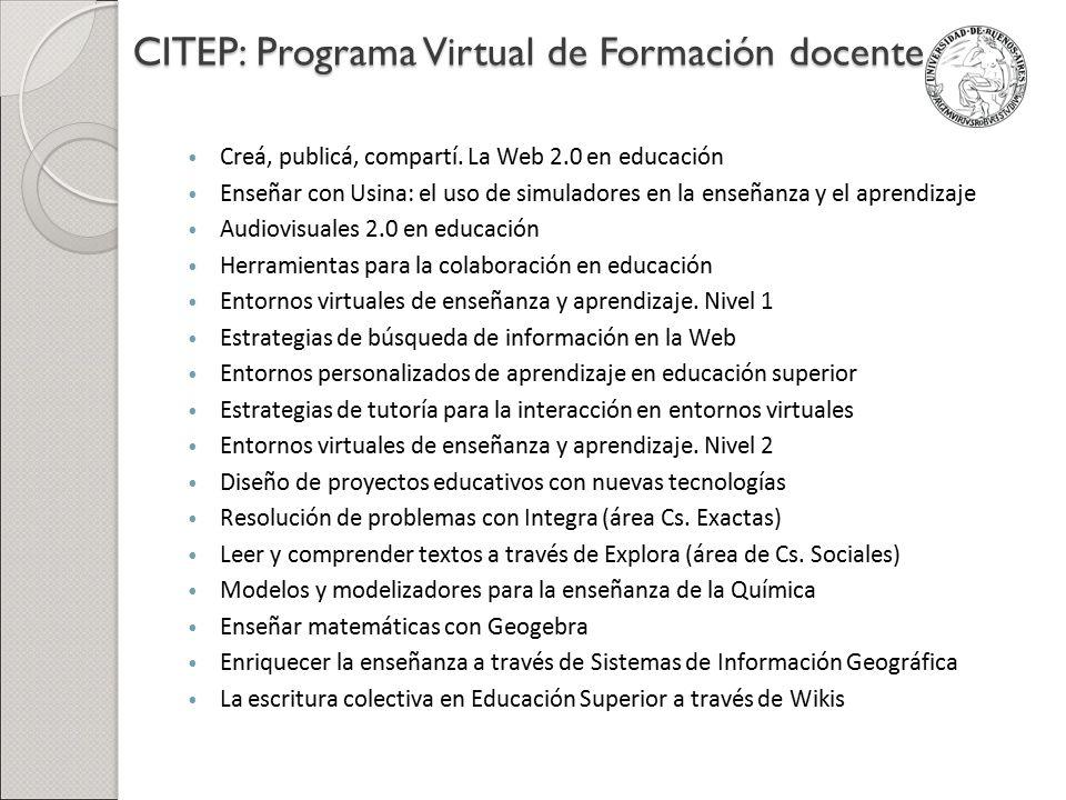 CITEP: Programa Virtual de Formación docente