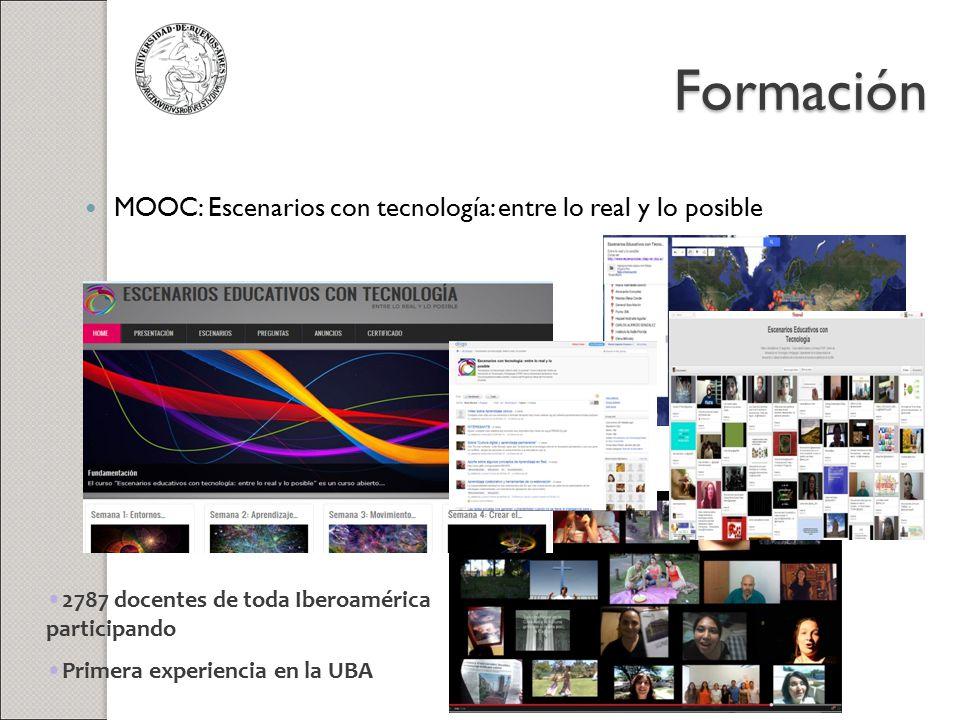 Formación MOOC: Escenarios con tecnología: entre lo real y lo posible