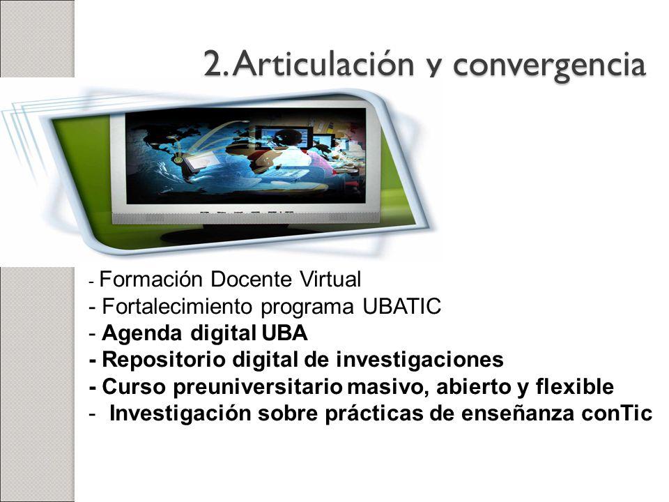 2. Articulación y convergencia