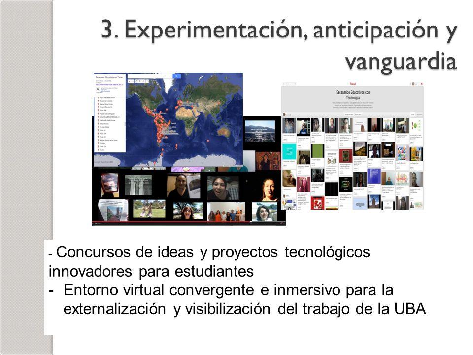 3. Experimentación, anticipación y vanguardia