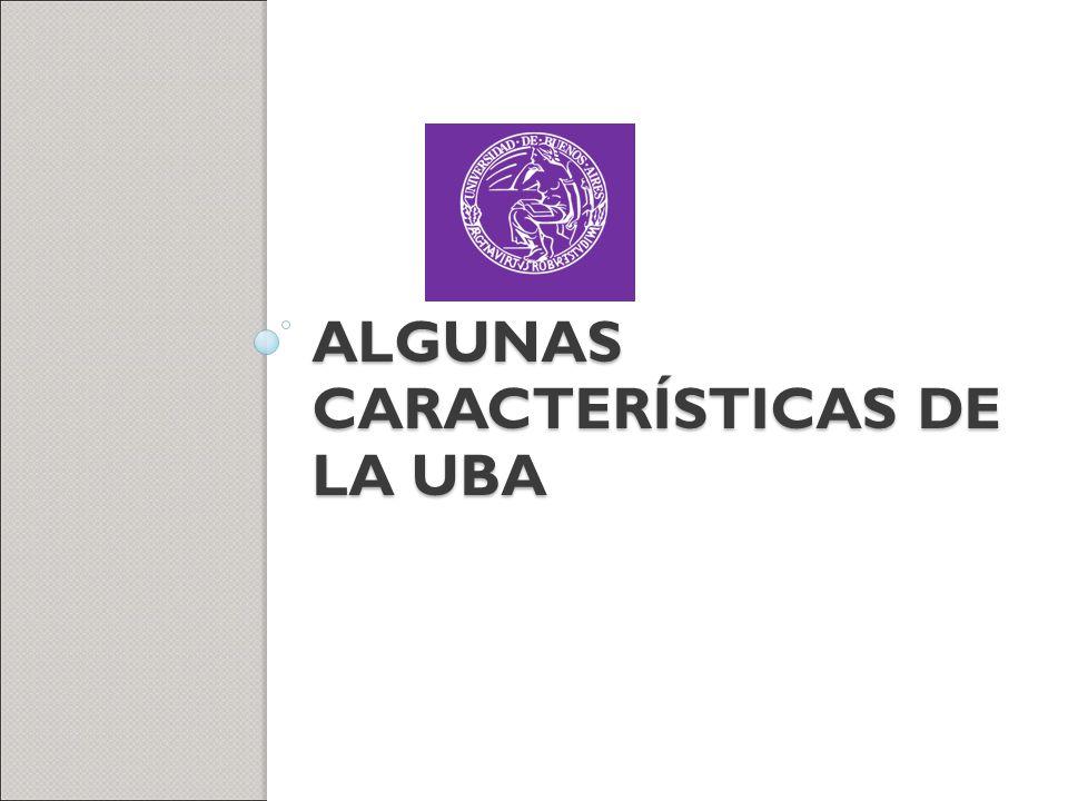 Algunas características de la UBA