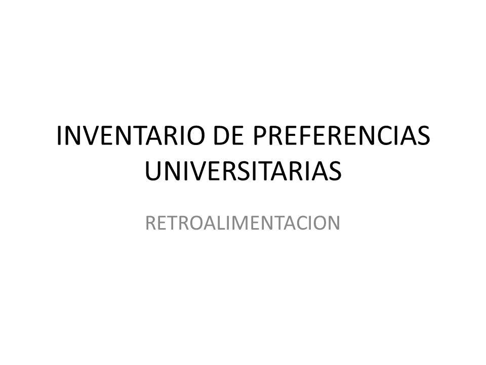 INVENTARIO DE PREFERENCIAS UNIVERSITARIAS