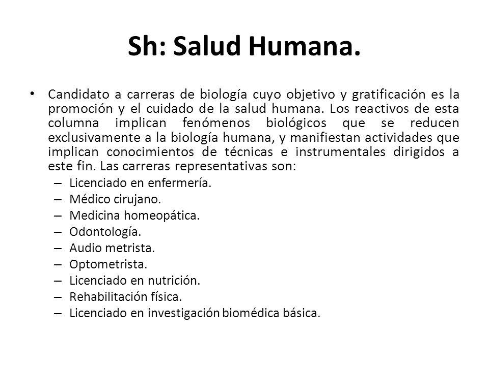 Sh: Salud Humana.
