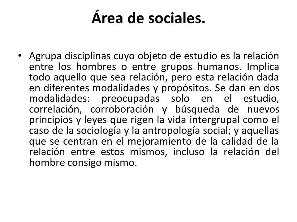 Área de sociales.