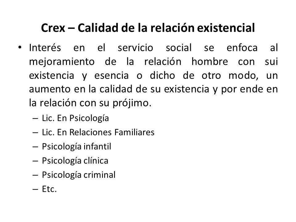 Crex – Calidad de la relación existencial