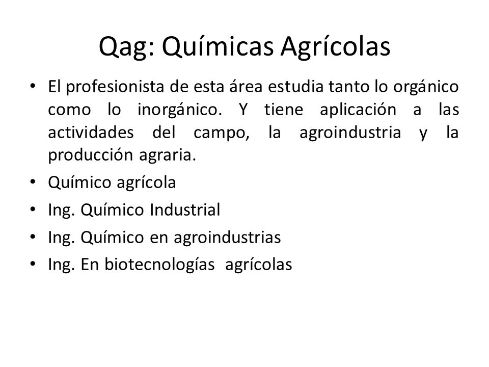 Qag: Químicas Agrícolas