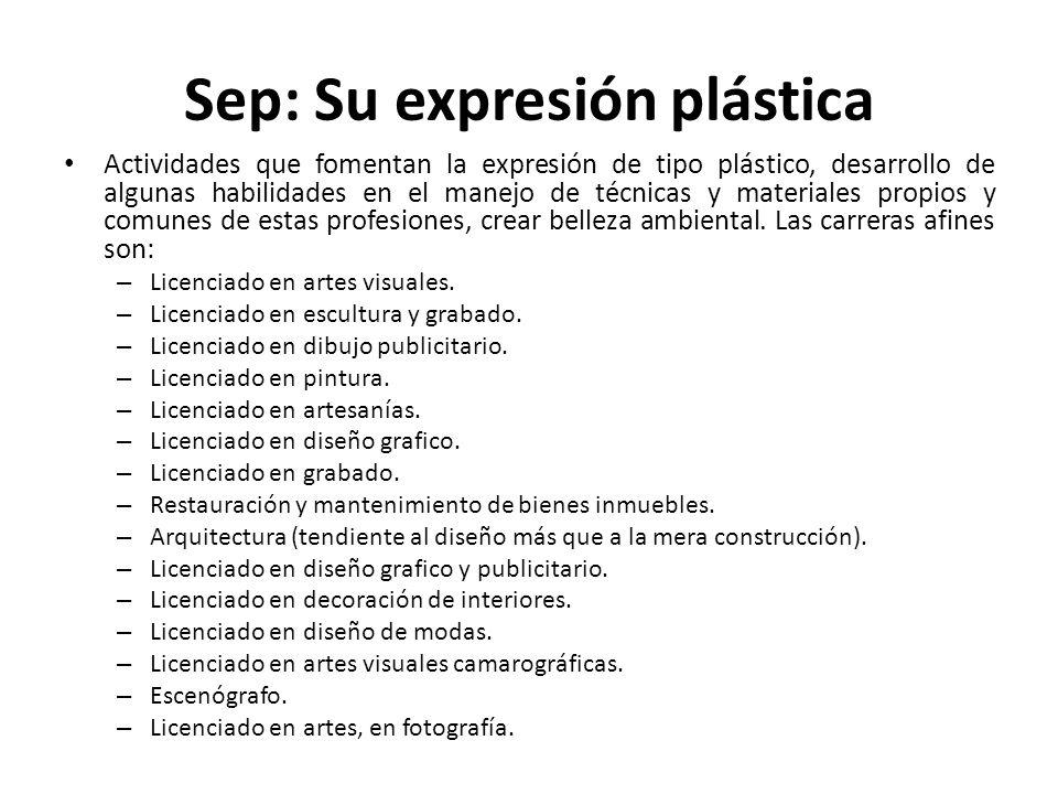 Sep: Su expresión plástica