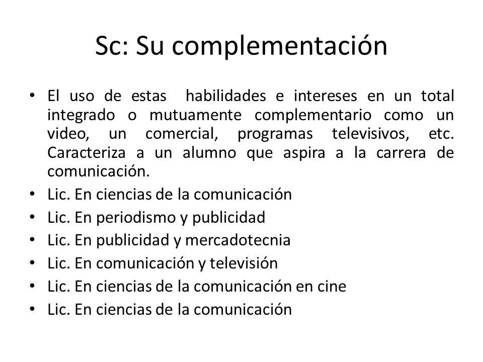 Sc: Su complementación