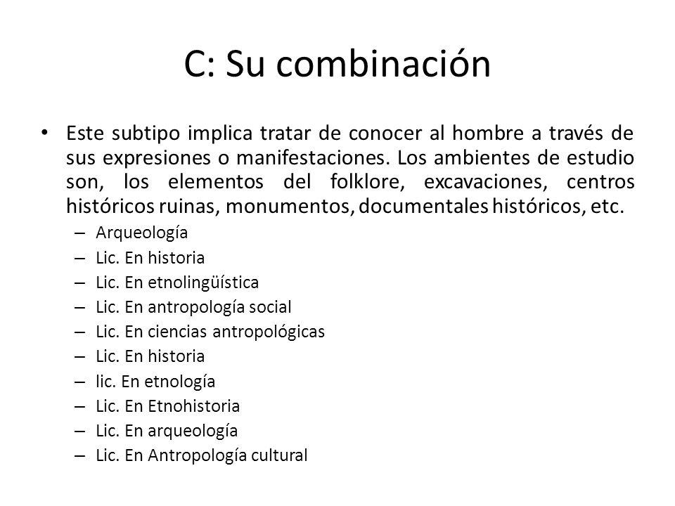 C: Su combinación