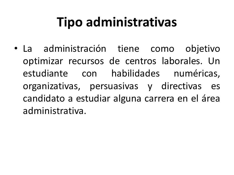 Tipo administrativas