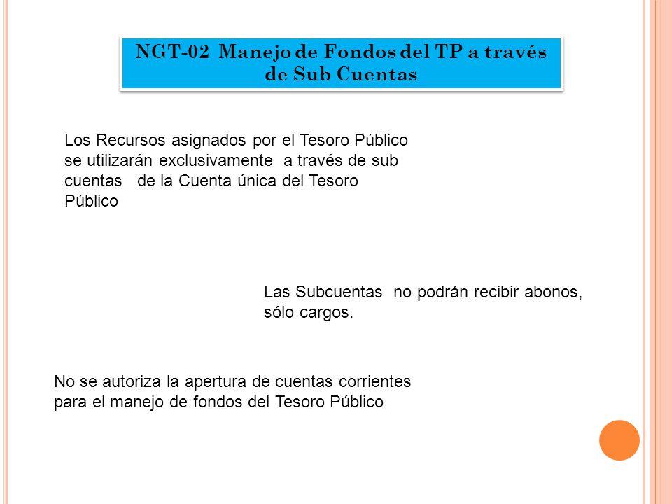 NGT-02 Manejo de Fondos del TP a través de Sub Cuentas