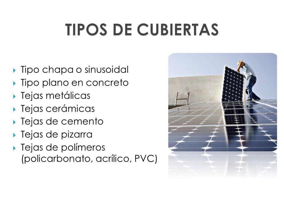 Trabajo en techos cubiertas ppt descargar - Tipos de cubiertas inclinadas ...