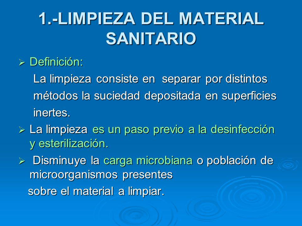 Limpieza y desinfección de materiales e instrumentos