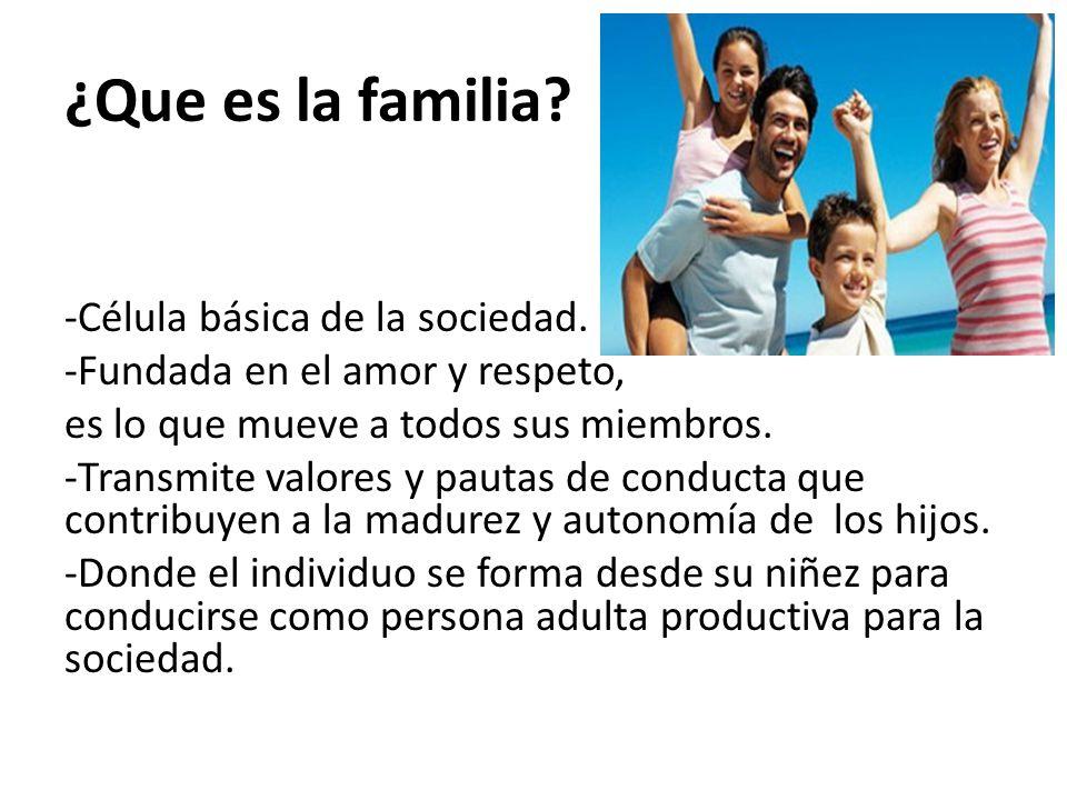 ¿Que es la familia