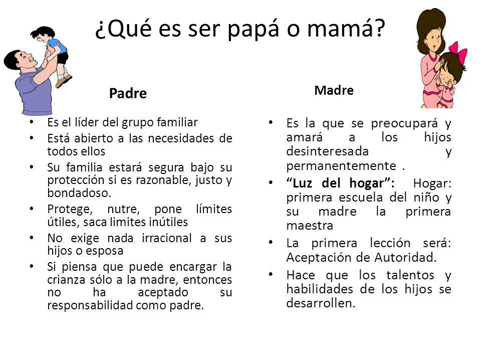 ¿Qué es ser papá o mamá Padre Madre