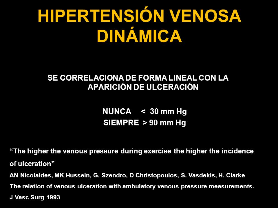 HIPERTENSIÓN VENOSA DINÁMICA