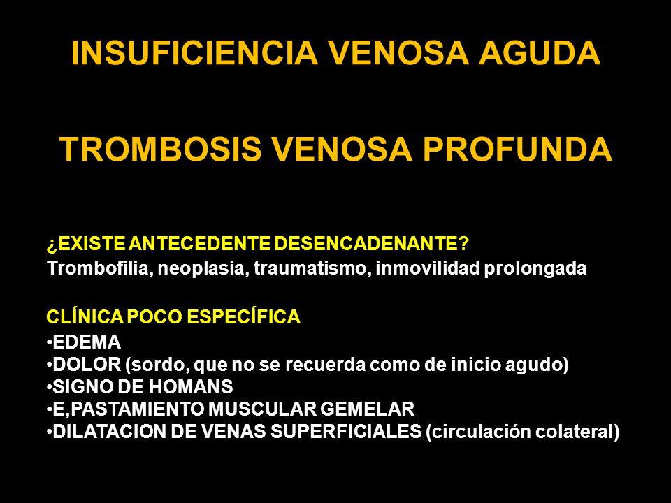 INSUFICIENCIA VENOSA AGUDA TROMBOSIS VENOSA PROFUNDA