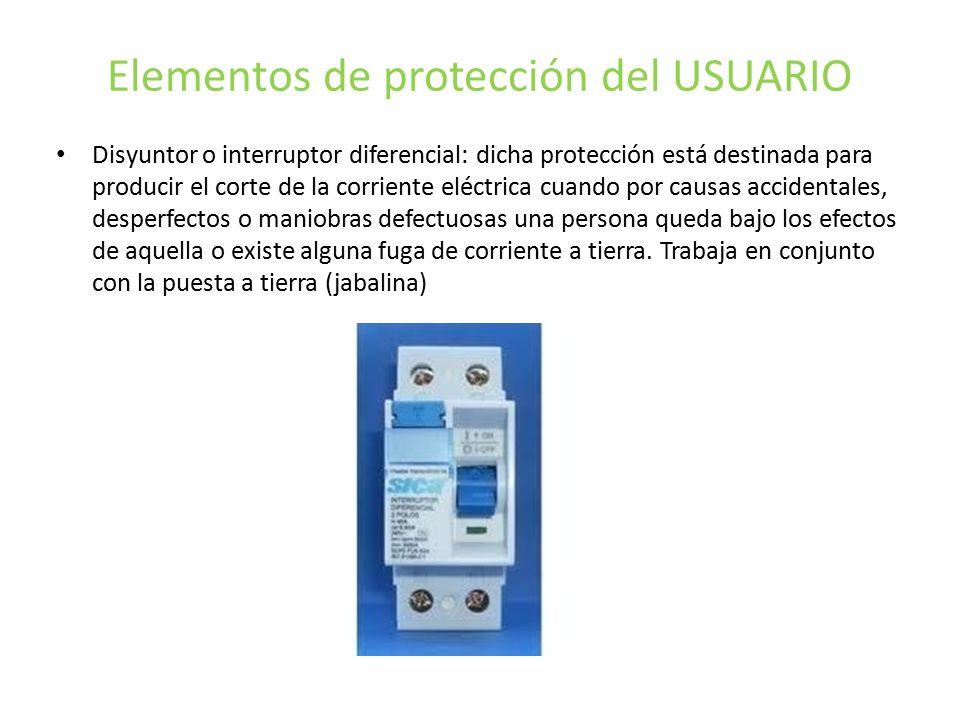 Elementos de protección del USUARIO