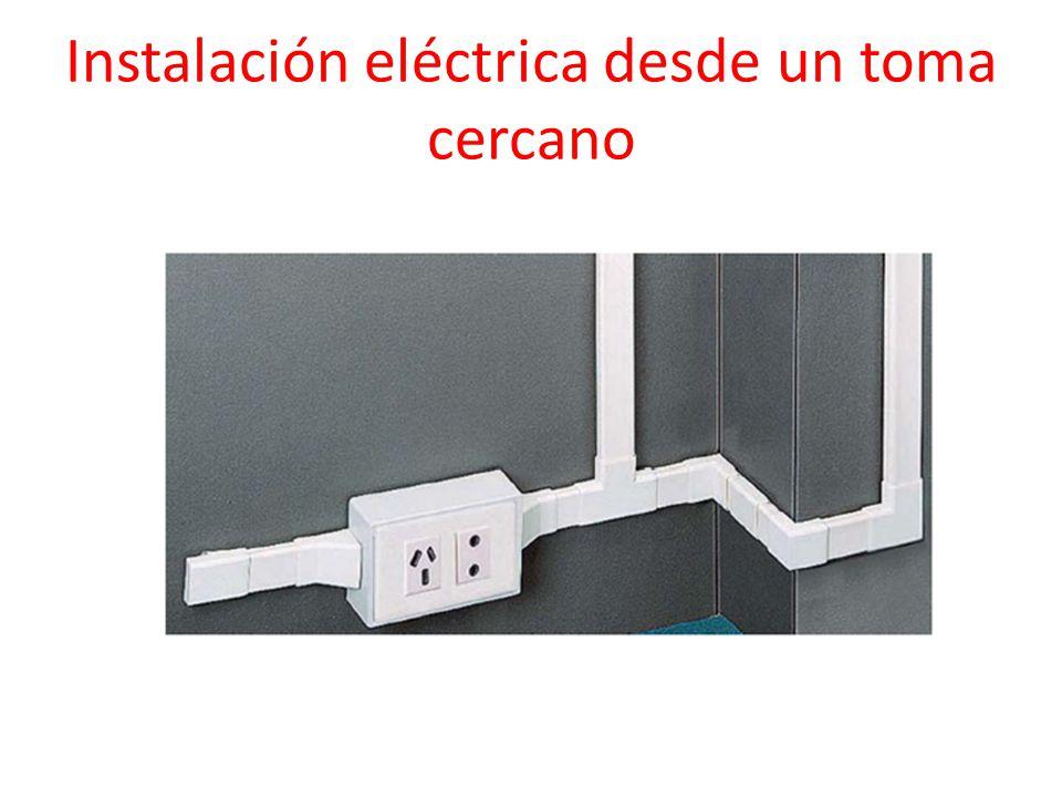 Instalación eléctrica desde un toma cercano