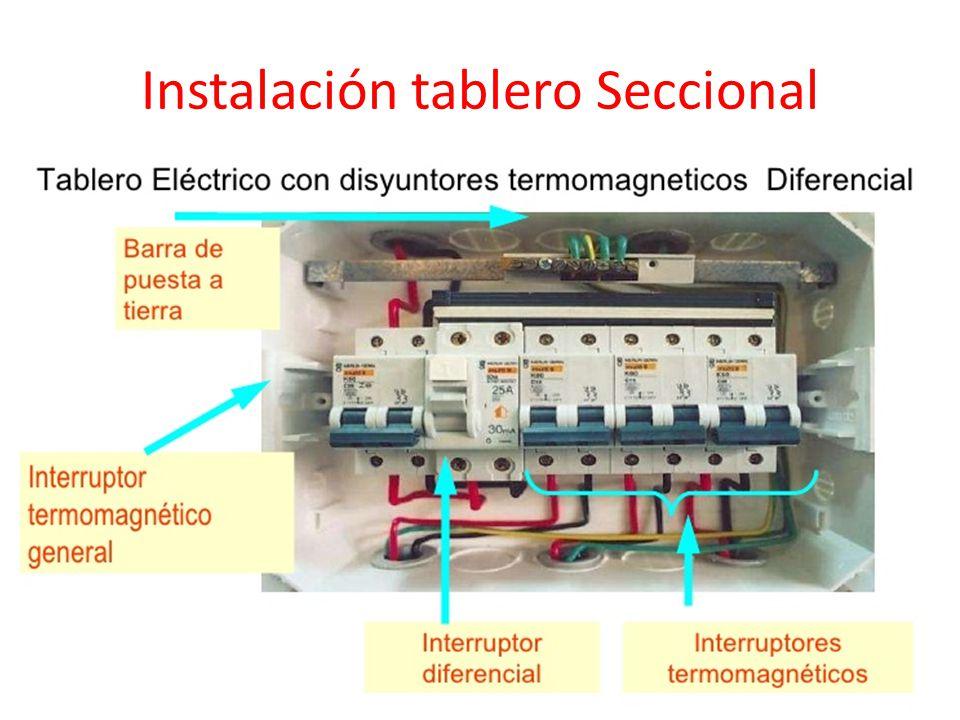 Instalación tablero Seccional