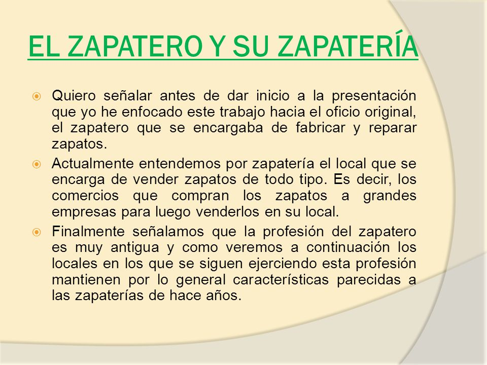 Zapater as en barakaldo ppt descargar for Zapateros muy grandes