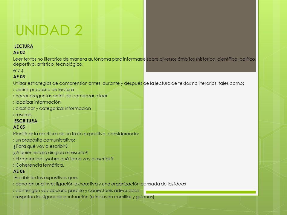 UNIDAD 2 LECTURA. AE 02.