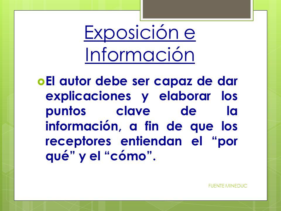 Exposición e Información