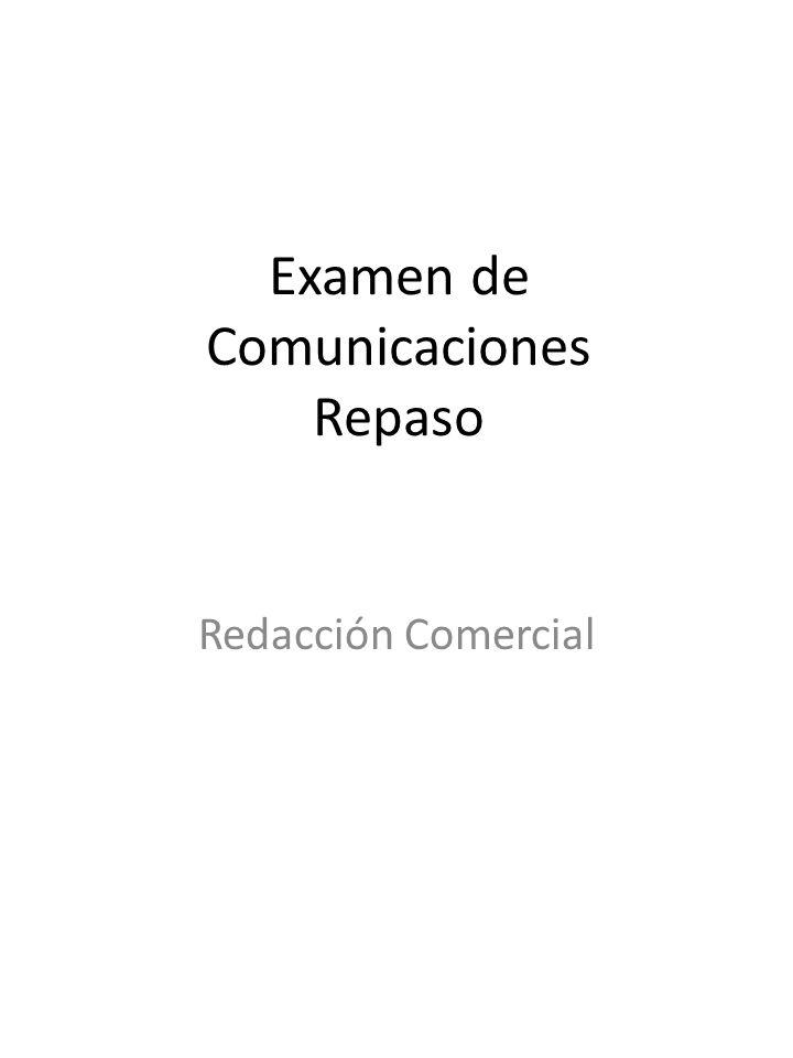 Examen de Comunicaciones Repaso