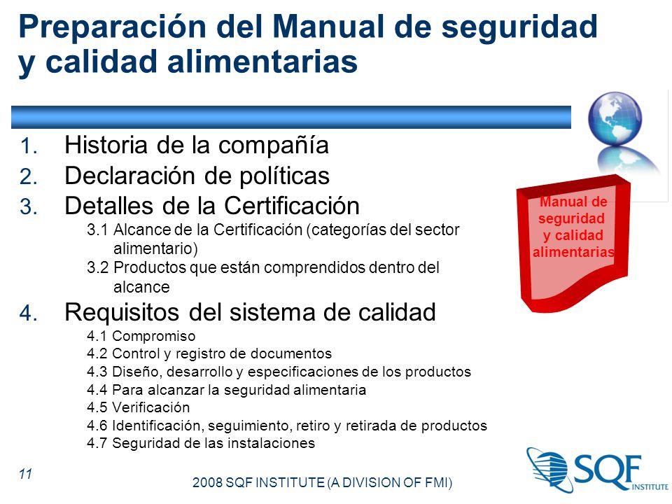 certificacion sqf 2000 manual