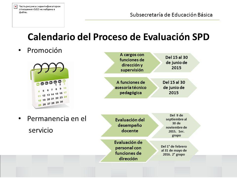 Calendario del Proceso de Evaluación SPD