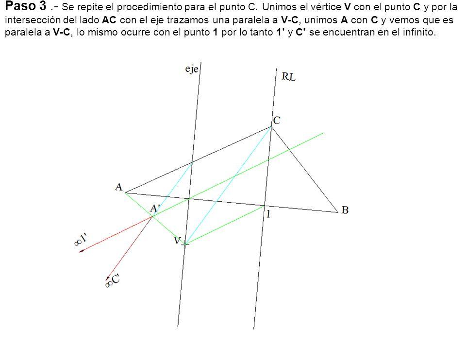 Paso 3. - Se repite el procedimiento para el punto C