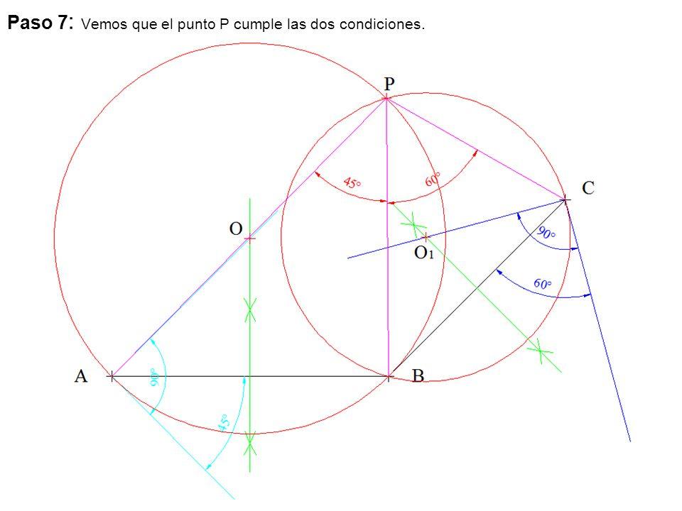 Paso 7: Vemos que el punto P cumple las dos condiciones.