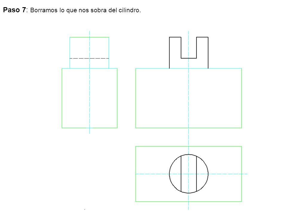 Paso 7: Borramos lo que nos sobra del cilindro.
