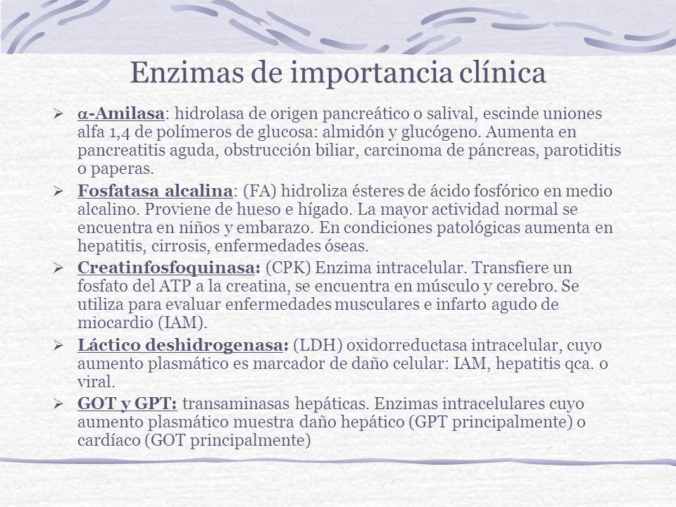 Enzimas de importancia clínica