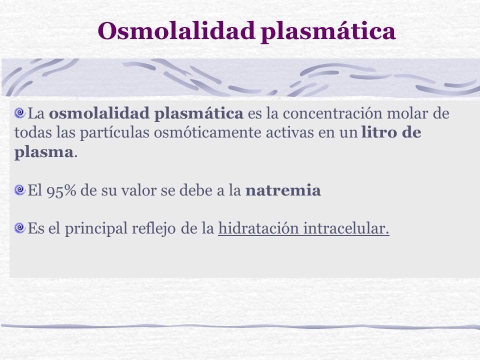 Osmolalidad plasmática