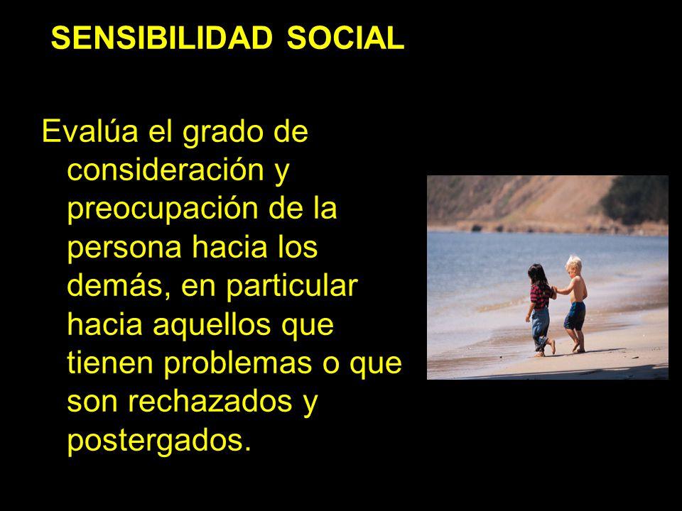 SENSIBILIDAD SOCIAL