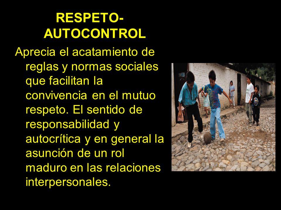 RESPETO-AUTOCONTROL