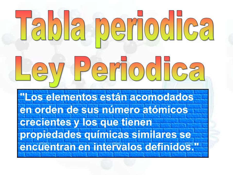 tabla periodica en ppt image collections periodic table and sample tabla periodica de los elementos orden - Tabla Periodica Filetype Ppt