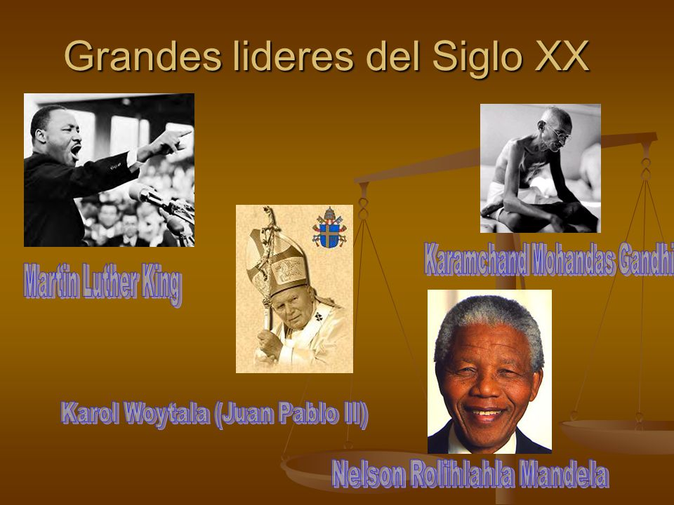 Grandes lideres del Siglo XX