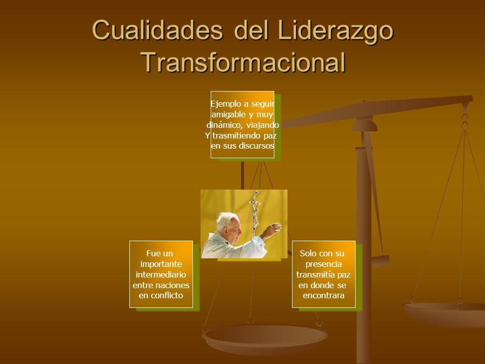 Cualidades del Liderazgo Transformacional
