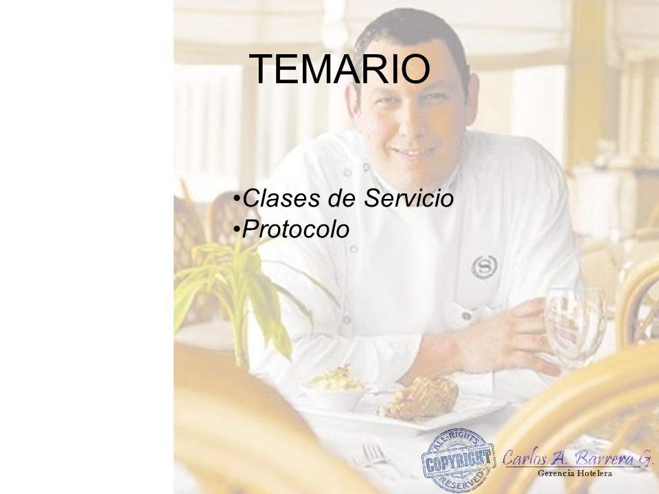Clases de Servicio Protocolo