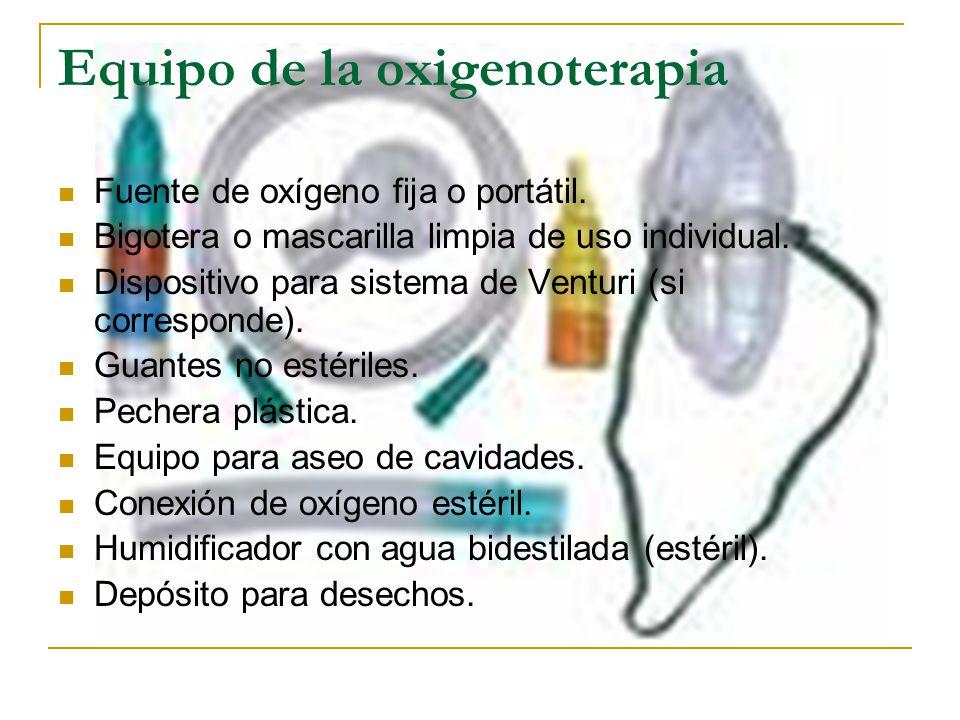 Equipo de la oxigenoterapia