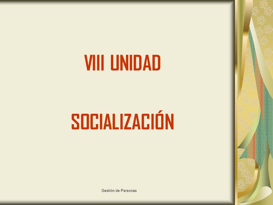 VIII UNIDAD SOCIALIZACIÓN