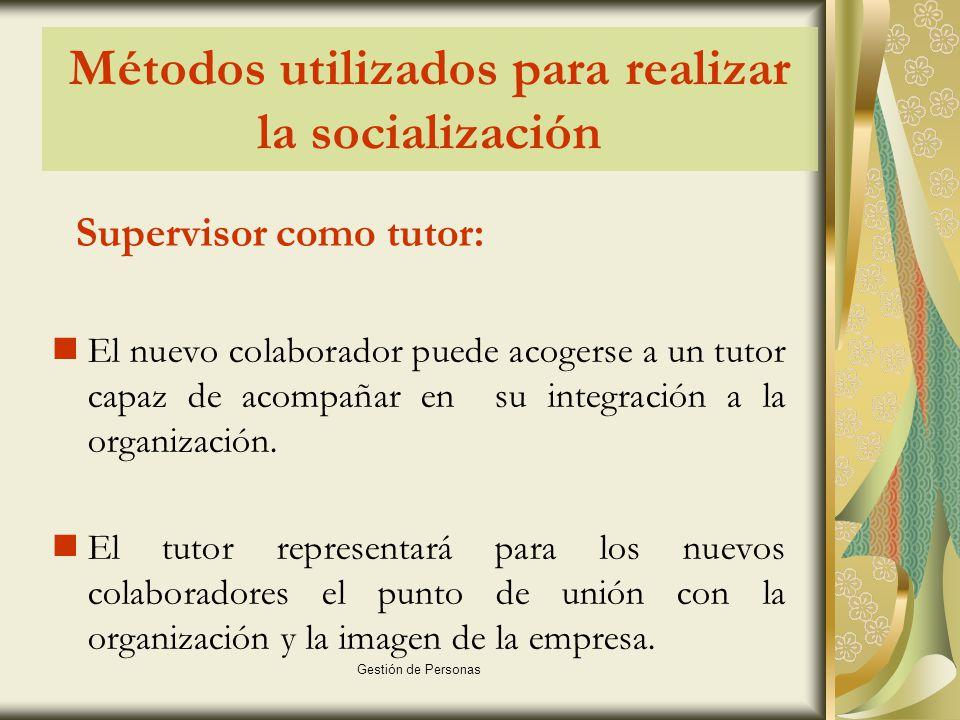 Métodos utilizados para realizar la socialización