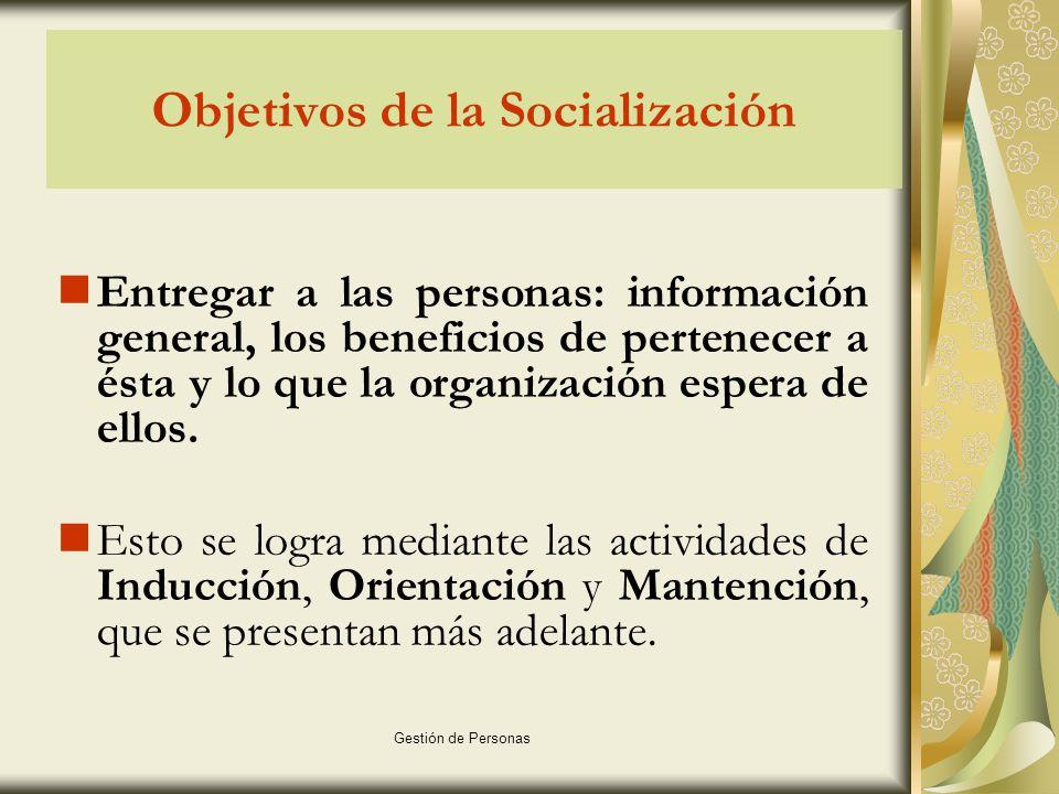 Objetivos de la Socialización
