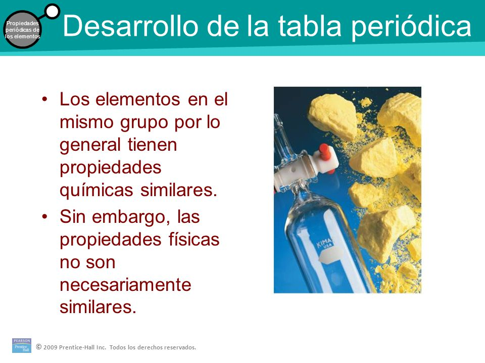 desarrollo de la tabla peridica - Tabla Periodica Elementos De Un Mismo Grupo